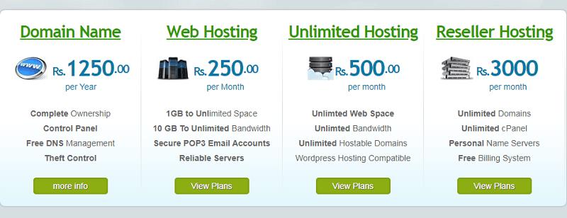 web hostin providers in Pakistan