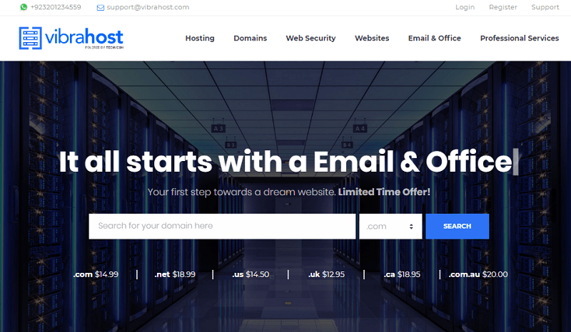 Vibrahost - best web hosting company in Pakistan