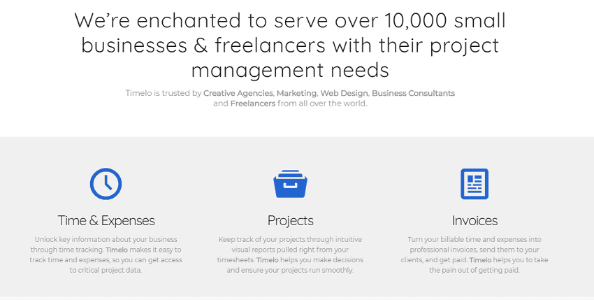 Project Management - Key Features of Timelo