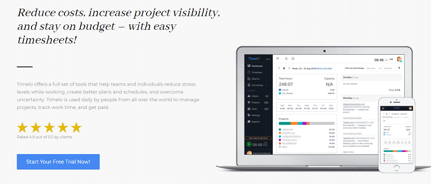 Mobile Friendly - Timelo a complete business tool