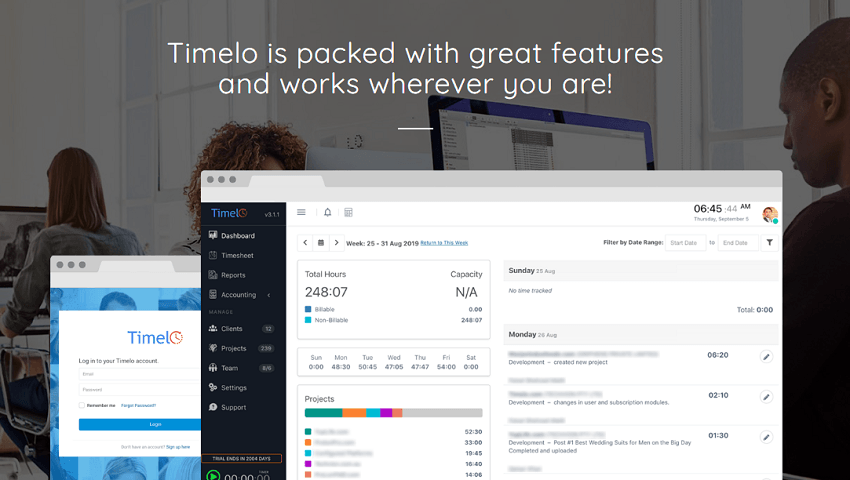 Cloud-Based - Key Features of Timelo