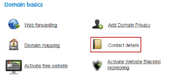 Update Your Contact Info when transferring a domain