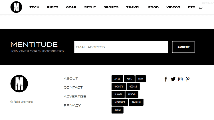 Black and White Palettes - web designing trends