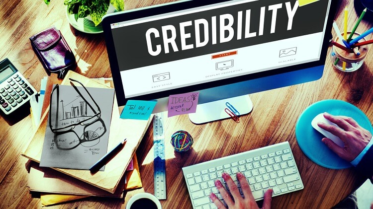 Credibility of website
