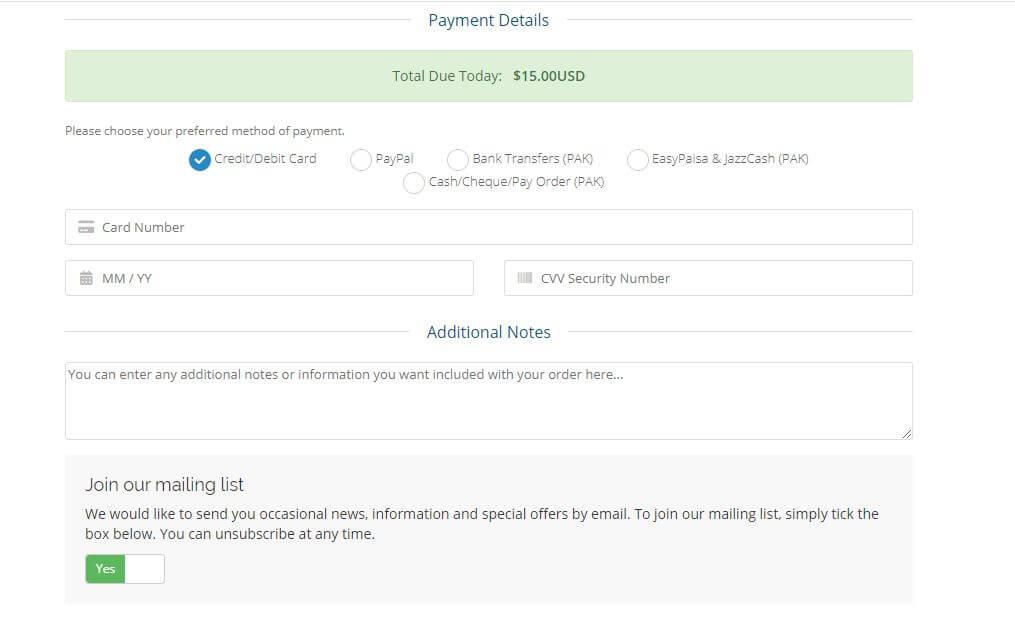 Payment methods in Pakistan to Buy Web Hosting