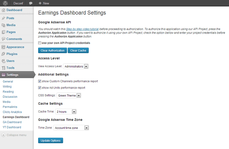 Google AdSense Dashboard - Best WordPress Plugins for AdSense