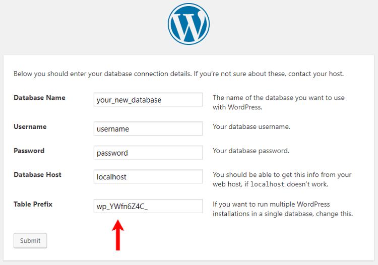 Check Database Prefix