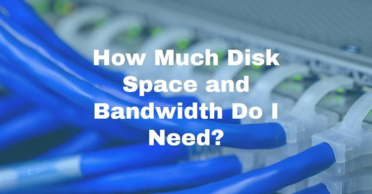 Bandwidth and disk space requirements